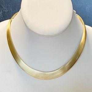 Alchemia Matte Gold Graduated Collar Necklace